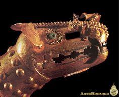 Cabeza de comadreja. Cultura Mochica (Perú) Autor: Fecha: 300 a. C.-800 dc Material: Oro