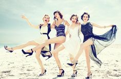 1920's inspired bridesmaids, precious!!!