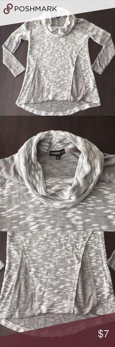 Tunic sweater Gray pattern sweater Pretty light Cowl neck Color block pattern Inspire Sweaters Cowl & Turtlenecks