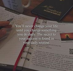 the secret to success is in your daily routine ★·.·´¯`·.·★ follow @motivation2study for daily inspiration