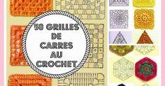 Crochet Stitches Free, Crochet Granny, Crochet Motifs, Crochet Squares, Knitting Patterns Free, Free Pattern, Granny Squares, Crochet Books, Knitting