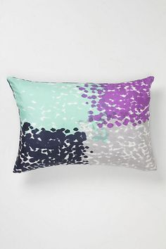 Violet Dip-Dot Pillow #anthropologie  good colors for dining chairs
