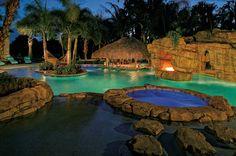 My pool when I win the lottery! Swimming Pools Backyard, Swimming Pool Designs, Piscine Diy, Florida Design, Mega Mansions, Tropical Pool, Luxury Pools, Diy Pool, Pool Builders