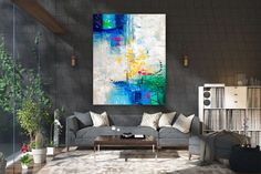 Items similar to Large Modern Wall Art Painting,Large Abstract Painting on Canvas,texture painting,gold canvas painting,gallery wall art on Etsy Large Abstract Wall Art, Large Canvas Art, Large Painting, Texture Painting, Canvas Wall Art, Texture Art, Oversized Wall Decor, Oversized Canvas Art, Bright Paintings