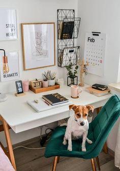 Cozy Home Office, Home Office Space, Home Office Design, Home Office Decor, Home Decor, Office Room Ideas, Office Setup, Small Office Decor, Future Office