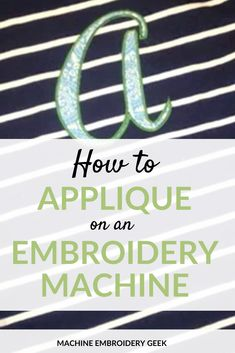 Complete instructions on how to appliqué on an embroidery machine. It's easier than you think to stitch appliqué designs on an embroidery machine. Used Embroidery Machines, Brother Embroidery Machine, Machine Embroidery Projects, Machine Embroidery Applique, Creeper Minecraft, Applique Tutorial, Applique Design, Sewing Appliques, Simple Embroidery