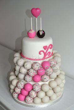 Wedding cake pop cake