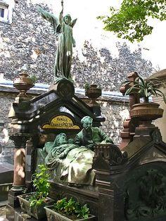 Charles Pigeon's Grave in Montparnasse Cemetery, Paris, France.