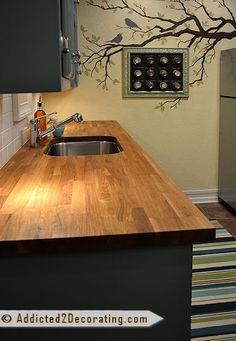 Countertops: Numerar oak butcherblock countertops from IKEA