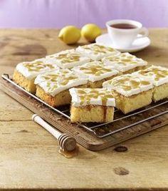 Honig-Zitronen-Blechkuchen Rezept