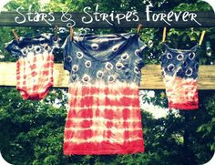 i'm definitely going to try this tie-dye pattern for the 4th of July!