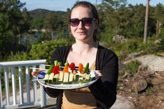 Marias Matglede ♥: Årets første grilling - halloumispyd Norwegian Food, Vegetarian Food, Grilling, Bbq, Veggie Food, Barbecue, Barbacoa, Vegetarian Cooking, Backen