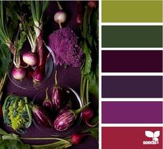 purples and greens