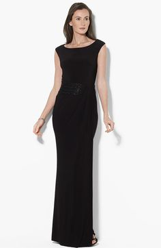 Lauren by Ralph Lauren Embellished Jersey Gown available at Nordstrom