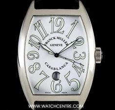 #FranckMuller Stainless Steel White Dial #Casablanca B&P #8880CDT