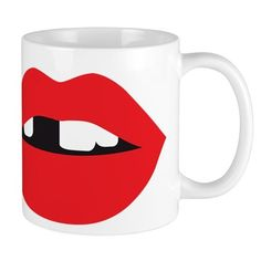 Sexy Lips 11 oz Ceramic Mug Sexy Lips Mugs by Adrianne_Desire - CafePress Mug Designs, Drinkware, Color Combinations, Lips, Ceramics, Tableware, Sexy, Color Combos, Ceramica