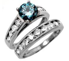 Blue diamond engagement rings - 2