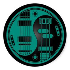 http://www.zazzle.com/guitar_and_bass_yin_yang_teal_blue_on_black_sticker-217928332045619845