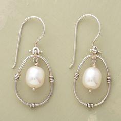 PENDULUM PEARL EARRINGS - Dangle - Earrings - Jewelry | Robert Redford's Sundance Catalog