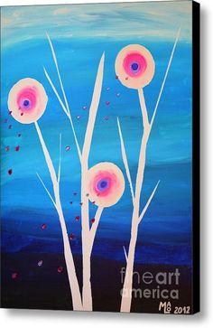 Magic Moonflowers Canvas Print / Canvas Art By Mario Lorenz Canvas Art, Canvas Prints, Art Prints, Art Sites, Paint Party, Large Art, Canvas Material, Wood Print, Unique Art