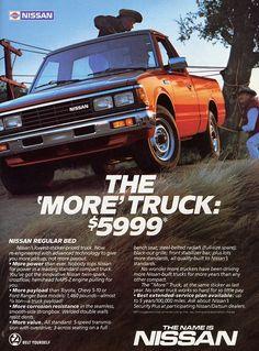 Classic Car News Pics And Videos From Around The World Nissan Pickup Truck, Nissan Trucks, Pickup Trucks, Classic Japanese Cars, Classic Cars, Small Pickups, Nissan Infiniti, Mini Trucks, Car Advertising