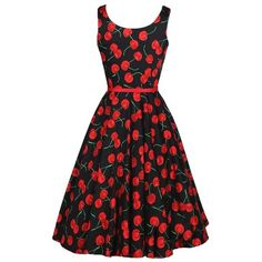 ACEVOG Vintage 1950's Floral Spring Garden Party Picnic Dress Party... ($20) ❤ liked on Polyvore featuring dresses, floral print cocktail dress, floral cocktail dresses, party dresses, vintage floral print dress and holiday party cocktail dresses