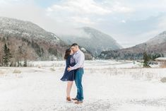 Snowy winter engagement photos at Crawford Notch, Jefferson New Hampshire | Caitlin Page Photography | Get more inspiration from this wintry engagement session in the snow. #engagementphotos #winterengagement Engagement Photography, Engagement Session, Wedding Photography, Crawford Notch, Winter Engagement Photos, Clothing Photography, New Hampshire, Travel Style, Christian