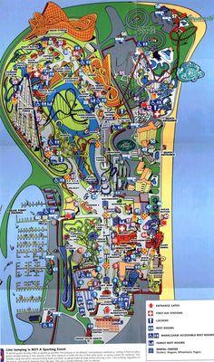 166 Best Theme Park Maps images