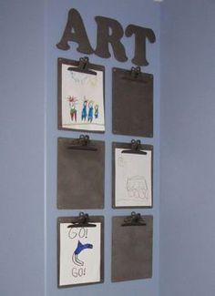 Afficher les productions/dessins des enfants