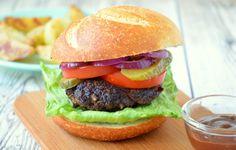 Hamburger mit Potato Wedges