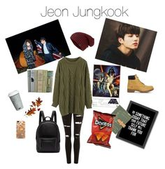 jungkook by park-ninon on Polyvore featuring Chicwish, Topshop, Timberland, PB 0110, Casetify, Americanflat and Fitz & Floyd