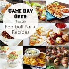Make your future spouse very happy with Game Day Grub: Top 20 Football Party Recipes cooking guide tips Tailgating Recipes, Tailgate Food, Football Recipes, Football Party Foods, Football Food, Football Parties, Wvu Football, Appetizers For Party, Appetizer Recipes