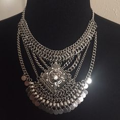 """Silver Chained Necklace Set Approximately 14"""" total length plus 3"""" extension. Rhinestone solitaire accent. Lobster claw clasp. Silver color. Post earrings are for pierced ears and are included in price. Brand new retail. No trades, no holding, no offsite/App transactions. PRICE IS FIRM UNLESS BUNDLED No offers entertained for any reason 5% off bundles Jewelry Necklaces"""