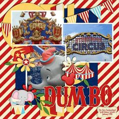 images of circus scrapbook pages | Storybook Circus - MouseScrappers.com