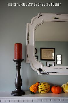 Weathered mirror DIY (aka a mistake that worked!)