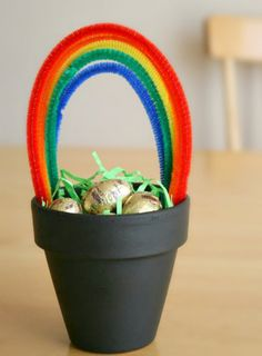 As that lucky Pot of Gold at the end of the rainbow can be tricky to find, we decided to make our own. With just a few supplies, you'll have a fun centerpiece filled with gold. Supplies for Pot of... Continue Reading →
