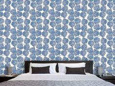 Designtapete Die Wellen Der Blätter Curtains, Shower, Blanket, Prints, Design, Waves, Wallpapers, Rain Shower Heads