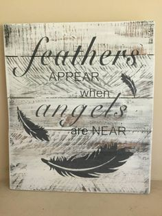 This rustic feather sign is hand made/hand painted with 100% reclaimed pallet wood! Given it is made out of reclaimed wood, it may have imperfections or flaws that give the wood a great amount of character. This sign would be a great gift. It measures approximately 16 inches by 13 and weights 4 pounds. ****Please note: * No two signs are alike and will vary slightly in appearance. While the sign depicted in the picture is not the one you will receive, we will do our utmost to replica...