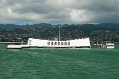 USS Arizona Memorial in Pearl Harbor in Honolulu #Hawaii
