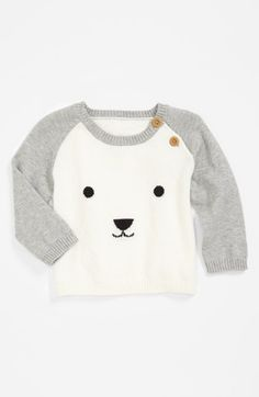 Nordstrom Baby Sweater (Baby Boys) available at Fashion Kids, Baby Boy Fashion, Baby Outfits, Kids Outfits, Unisex Baby Clothes, Baby Kids Clothes, Mini Mundo, Nordstrom Baby, Pull Bebe