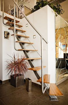 Industrial staircase design for those cramped for space at home - Decoist