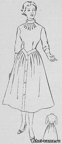 21d1d02d6ece Платье с заниженной линией талии и пристегивающейся планкой на юбке - Сто  фасонов женского платья - Всё о шитье - Шей сама