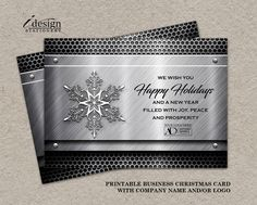 92 best business and corporate christmas cards images on pinterest metal business holiday cards with logo printable construction steel fabricator automotive or welding christmas greetings card template m4hsunfo