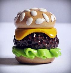 Have It Your Way Juicy Cheeseburger Polymer Clay by AllForJasmine