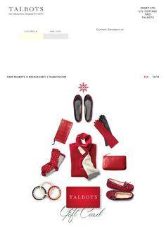 Talbots catalog design - back cover Editorial Layout, Editorial Design, Christmas Brochure, Christmas Graphic Design, Catalog Cover, Christmas Cover, Magazine Layout Design, Brochure Cover, Catalog Design