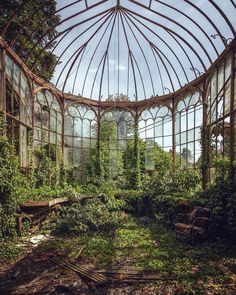 Abandoned Conservatory. Photograph by Mathias Mahling. #conservatorygreenhouse