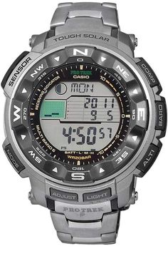 6c6e89fd3bd Casio Men s PRO TREK Titanium Atomic Solar Digital Chronograph Watch -  PRW2500T-7