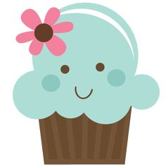Cute Cupcake - SVG cutting file for scrapbooks