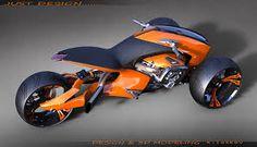 """Képtalálat a következőre: """"trike design concept"""" Scooter Bike, Trike Motorcycle, Motorcycle Design, Bike Design, Reverse Trike, Futuristic Motorcycle, Futuristic Cars, Concept Motorcycles, Custom Motorcycles"""