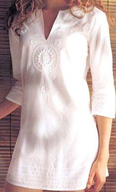 Manual Embroidery Work Ladies Blouse Tunic Top Kurta Kurti